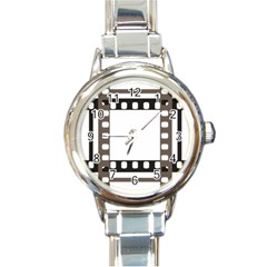 Frame Decorative Movie Cinema Round Italian Charm Watch