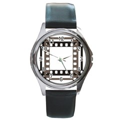 Frame Decorative Movie Cinema Round Metal Watch
