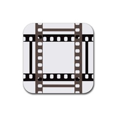 Frame Decorative Movie Cinema Rubber Square Coaster (4 pack)