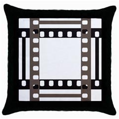 Frame Decorative Movie Cinema Throw Pillow Case (black)