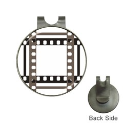 Frame Decorative Movie Cinema Hat Clips With Golf Markers