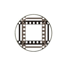 Frame Decorative Movie Cinema Hat Clip Ball Marker (10 pack)