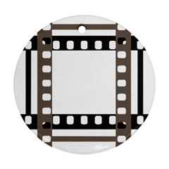 Frame Decorative Movie Cinema Round Ornament (two Sides)
