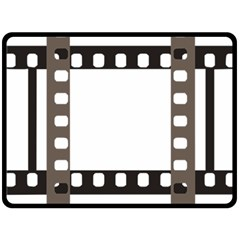 Frame Decorative Movie Cinema Fleece Blanket (large)