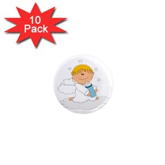 Angel Baby Bottle Cute Sweet 1  Mini Magnet (10 Pack)