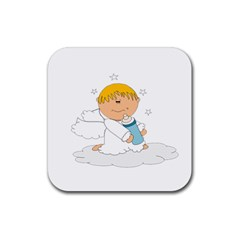 Angel Baby Bottle Cute Sweet Rubber Coaster (Square)
