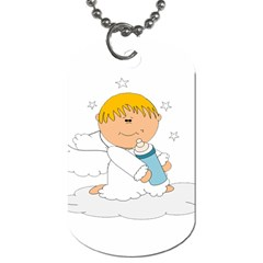 Angel Baby Bottle Cute Sweet Dog Tag (two Sides)