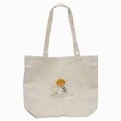 Angel Baby Bottle Cute Sweet Tote Bag (cream)