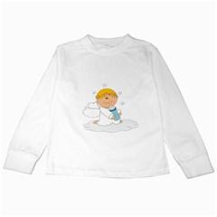 Angel Baby Bottle Cute Sweet Kids Long Sleeve T Shirts
