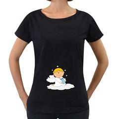 Angel Baby Bottle Cute Sweet Women s Loose Fit T Shirt (black)