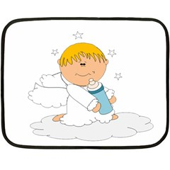 Angel Baby Bottle Cute Sweet Fleece Blanket (Mini)