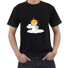 Angel Baby Bottle Cute Sweet Men s T-Shirt (Black)