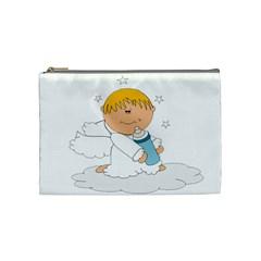 Angel Baby Bottle Cute Sweet Cosmetic Bag (medium)