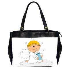 Angel Baby Bottle Cute Sweet Office Handbags (2 Sides)