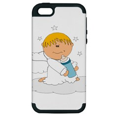 Angel Baby Bottle Cute Sweet Apple iPhone 5 Hardshell Case (PC+Silicone)