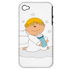 Angel Baby Bottle Cute Sweet Apple Iphone 4/4s Hardshell Case (pc+silicone)