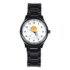 Angel Baby Bottle Cute Sweet Stainless Steel Round Watch