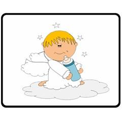 Angel Baby Bottle Cute Sweet Double Sided Fleece Blanket (medium)