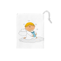 Angel Baby Bottle Cute Sweet Drawstring Pouches (small)
