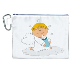 Angel Baby Bottle Cute Sweet Canvas Cosmetic Bag (XXL)