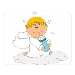 Angel Baby Bottle Cute Sweet Double Sided Flano Blanket (large)