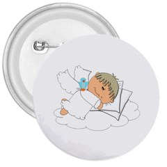 Sweet Dreams Angel Baby Cartoon 3  Buttons