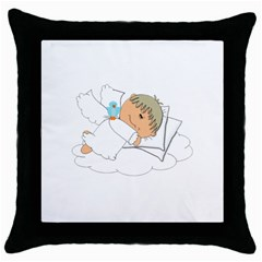 Sweet Dreams Angel Baby Cartoon Throw Pillow Case (black)