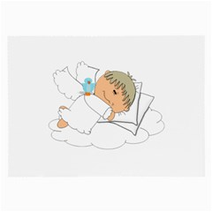 Sweet Dreams Angel Baby Cartoon Large Glasses Cloth