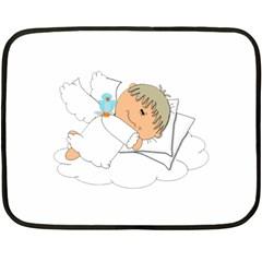 Sweet Dreams Angel Baby Cartoon Double Sided Fleece Blanket (Mini)