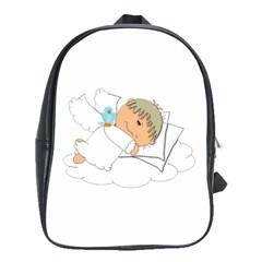 Sweet Dreams Angel Baby Cartoon School Bags(large)