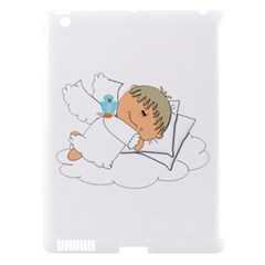 Sweet Dreams Angel Baby Cartoon Apple iPad 3/4 Hardshell Case (Compatible with Smart Cover)