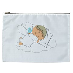 Sweet Dreams Angel Baby Cartoon Cosmetic Bag (xxl)
