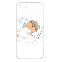 Sweet Dreams Angel Baby Cartoon Apple Iphone 5 Seamless Case (white)