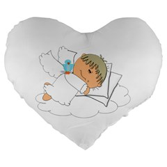 Sweet Dreams Angel Baby Cartoon Large 19  Premium Heart Shape Cushions