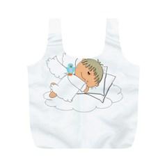 Sweet Dreams Angel Baby Cartoon Full Print Recycle Bags (m)