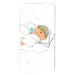 Sweet Dreams Angel Baby Cartoon Galaxy Note 4 Back Case