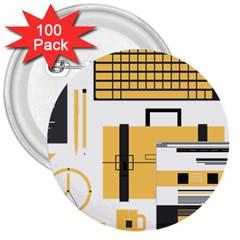 Web Design Mockup Web Developer 3  Buttons (100 Pack)