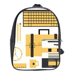 Web Design Mockup Web Developer School Bags(Large)