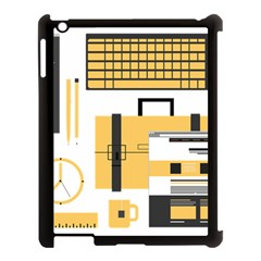 Web Design Mockup Web Developer Apple Ipad 3/4 Case (black)