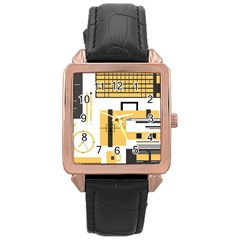 Web Design Mockup Web Developer Rose Gold Leather Watch