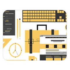 Web Design Mockup Web Developer Double Sided Flano Blanket (Large)