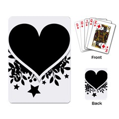Silhouette Heart Black Design Playing Card
