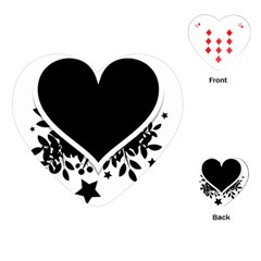 Silhouette Heart Black Design Playing Cards (heart)