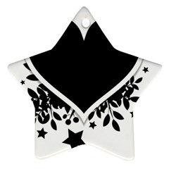 Silhouette Heart Black Design Star Ornament (two Sides)