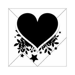 Silhouette Heart Black Design Acrylic Tangram Puzzle (6  x 6 )