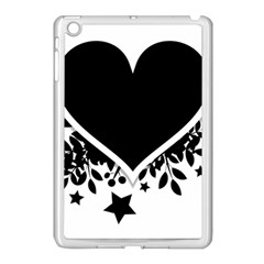 Silhouette Heart Black Design Apple iPad Mini Case (White)