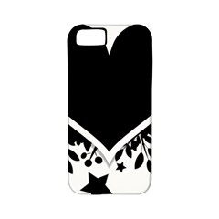 Silhouette Heart Black Design Apple iPhone 5 Classic Hardshell Case (PC+Silicone)