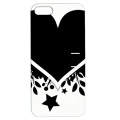 Silhouette Heart Black Design Apple Iphone 5 Hardshell Case With Stand