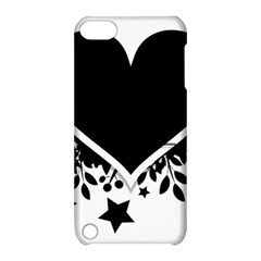 Silhouette Heart Black Design Apple Ipod Touch 5 Hardshell Case With Stand