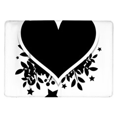 Silhouette Heart Black Design Samsung Galaxy Tab 10 1  P7500 Flip Case